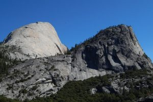 The backside of Half Dome and Mt. Broderick.
