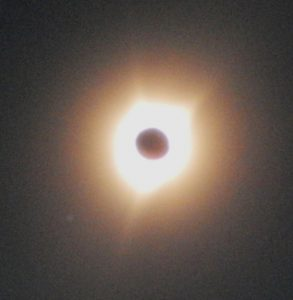 The sun's corona during the eclipse