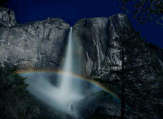 Upper Yosemite Fall and Moonbow