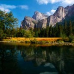 Cathedral Rocks, Leaning Tower, Merced River